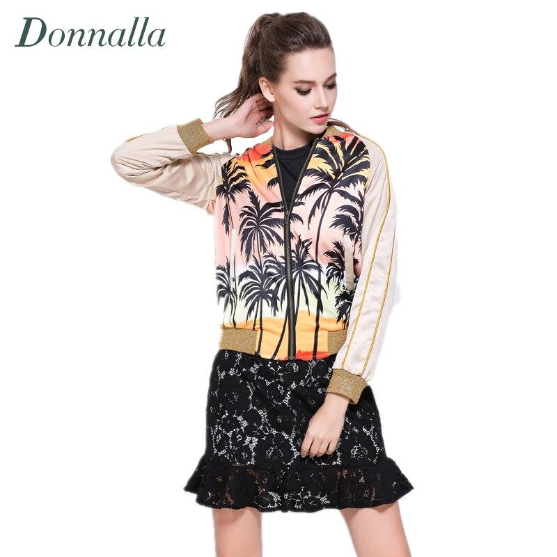 ⊱Mujer chaqueta mujer nueva moda palma de coco Árboles imprimir ...