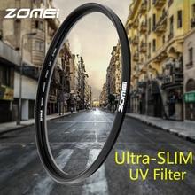 Zomei Ultra-фиолета УФ-фильтр объектива с защитой от ультрафиолета для цифровых однообъективных зеркальных камер и однообъективных зеркальных камер для цифровой зеркальной камеры Canon Nikon sony 40,5/49/52/55/58/62/67/72/77/82/86 мм