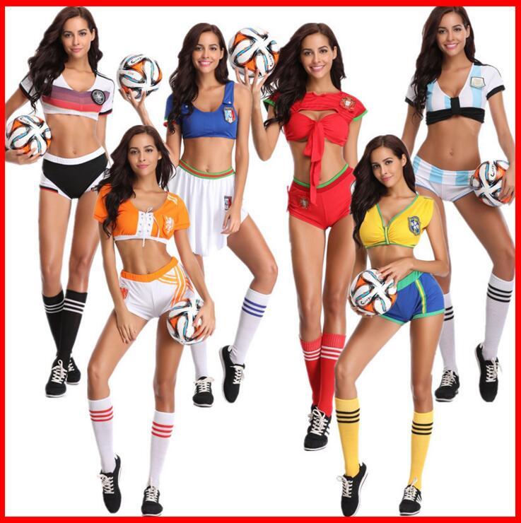 Detalle Comentarios Preguntas sobre Cheerleading Glee porrista disfraz  Aerobics ropa uniformes para actuaciones Halloween vestido elegante Talla M  L XL en ... 5af26154cbb