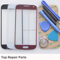 Black White Red Replacement Front Touch Screen Outer Digitizer Glass Lens Kits For Samsung Galaxy S4 Mini I9190 With Free Tools