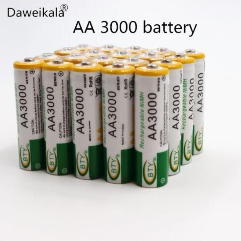 2019 lot 1.2V 3000mAh NI MH AA Pre-Charged Rechargeable Batteries Ni-MH Rechargeable aa Battery For Toys Camera Microphone(China)