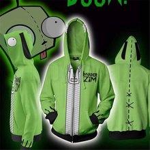 Anime Invader Alien Zim Hoodie Cosplay Movie Sweatshirts 3D Men New