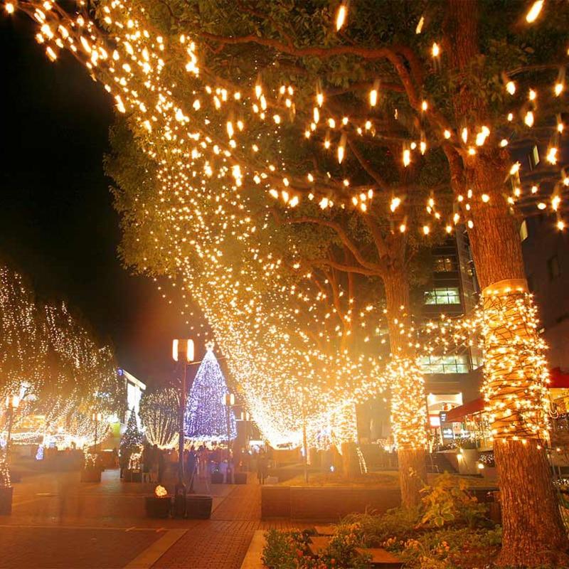 50 m Étanche De Noël LED Lumières de Corde Extérieure Twinkle Pendentif Nuit De Mariage/Partie/Décoration de La Maison de Vacances Fée Lumières H-08