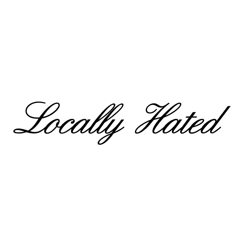 183 4cm locally hated funny words car window stickers car styling vinyl unique style accessorie black silver c9 0073 in car stickers from automobiles