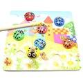 Simingyou Детские Игрушки Деревянные Рыбалка Жук Детские Развивающие Игрушки Начале 3d Магнитная Головоломка SG36
