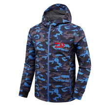 Autumn Winter Daiwa  Men Fishing Jacket  Waterproof  Fishing Suit Anti-cold Plus Velvet Outdoor Sport Hiking Clothing недорого