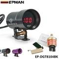 Epman 37mm micro digital ahumado manómetro de aceite universal 3-4-6-8 motores de cilindro negro, púrpura ep-dgt8104