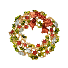 Christmas Wreath Brooch Pin