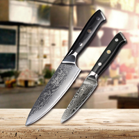 SUNNECKO High Quality Damascus 6.5'' Chef 3.5'' Paring Knife Japanese VG10 Steel Kitchen Knives G10 Handle Meat Cutter Best Gift
