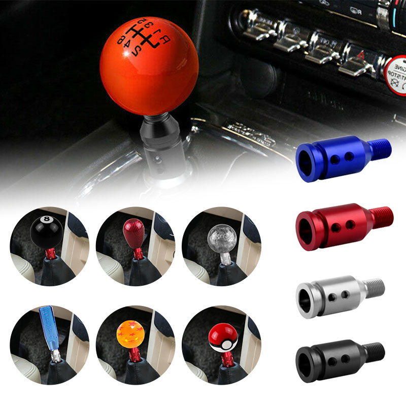 Shift Knob Adapter Threaded Knobs Universal Aluminum for Non Threaded Shifters BMW Mini Shifter 12x1.25mm SK183A(China)