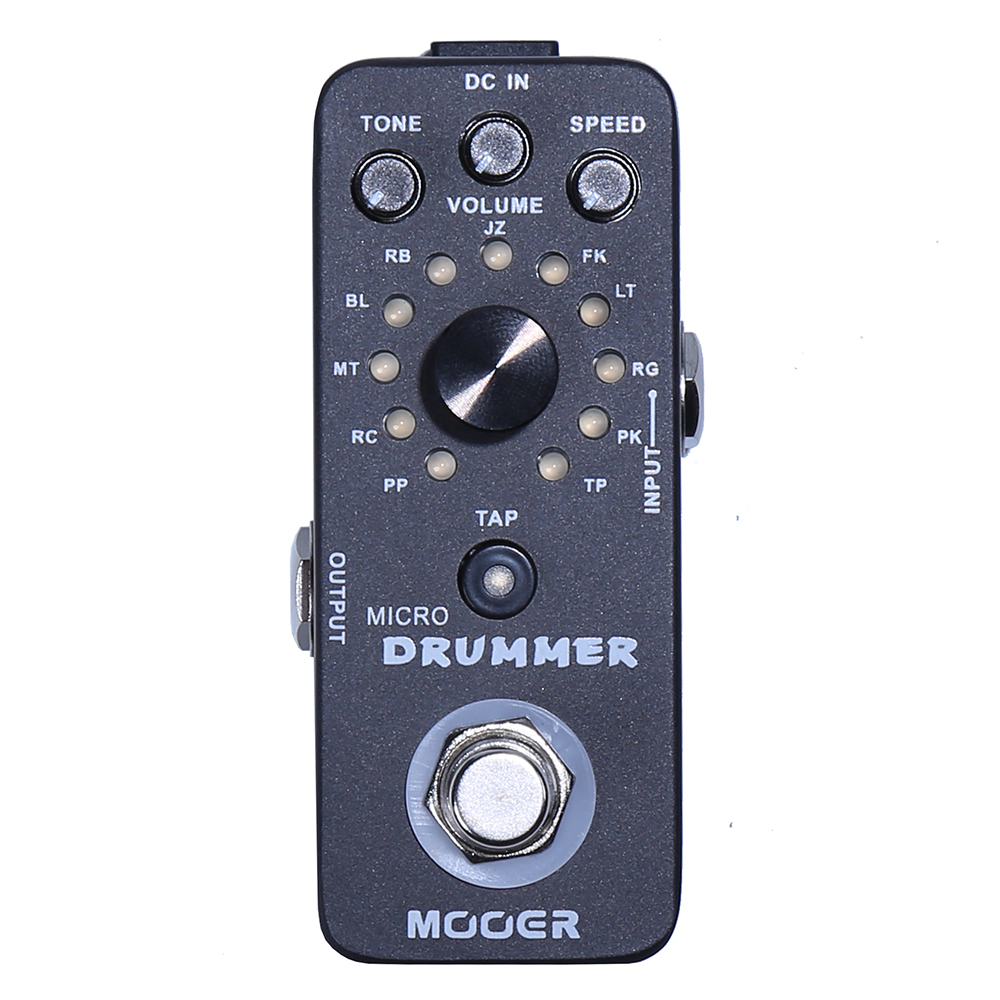 Mooer Micro Drummer Electric Bass Acoustic Guitar Effects Pedal Drum Machine 121 Drumbeats Guitar Accessories Gig Digital Compa electric guitar effector multi function guitar composition upgrade stylesound tuner drum machine integrated digital effects