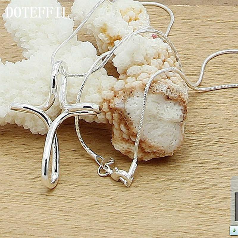 โปรโมชั่นราคา 925 Silver Charm สร้อยคอหัวเข็มขัดกุ้ง,ผู้หญิงที่ละเอียดอ่อน Cross สร้อยคอขายส่งเงินเครื่องประดับของขวัญ