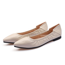 Luxury 2019 Women Flats Shoes Ballet Pointed Toe Fashion Casual Woman Low-help Comfortable Soft Bottom High Quality
