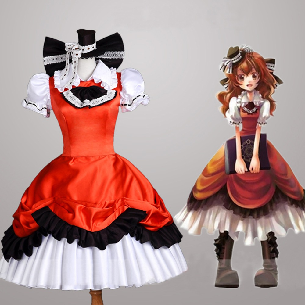 Hot game Zettai Meikyuu Henrietta Grimm cosplay costumes girl Pleated Gothic Lolita dresses Carnival Halloween Costume image