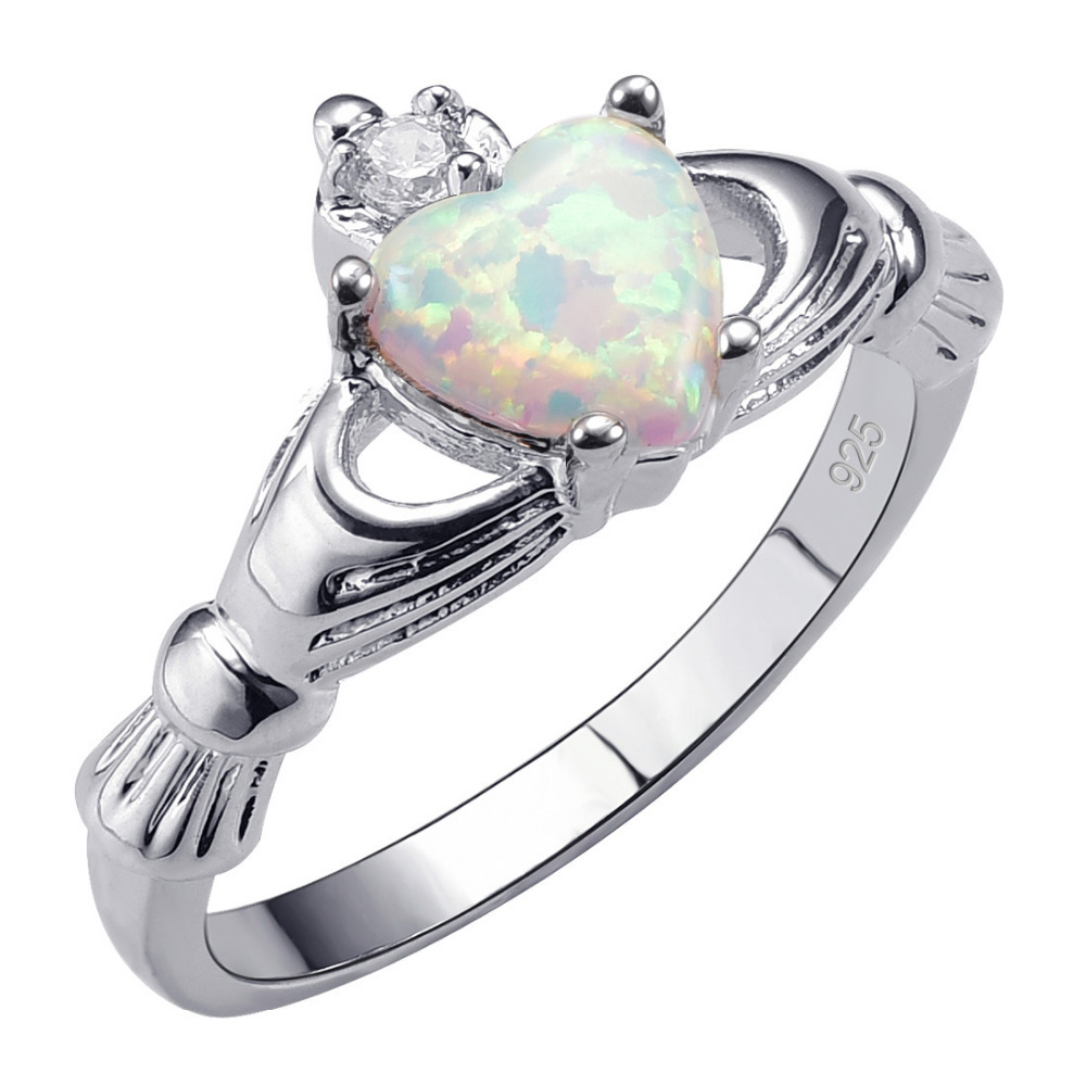 Hot Sale Exquisite White Fire Opal 925 Sterling Silver High Quantity Ring Beautiful Jewelry Size 5 6 7 8 9 10 11 12 F1538