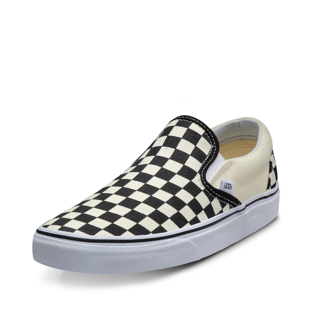 870f58123fb Original Vans Classic Black and White Grid Unisex Skateboarding Shoes  sports Shoes Canvas Shoes Sneakers free shipping-in Skateboarding from  Sports ...
