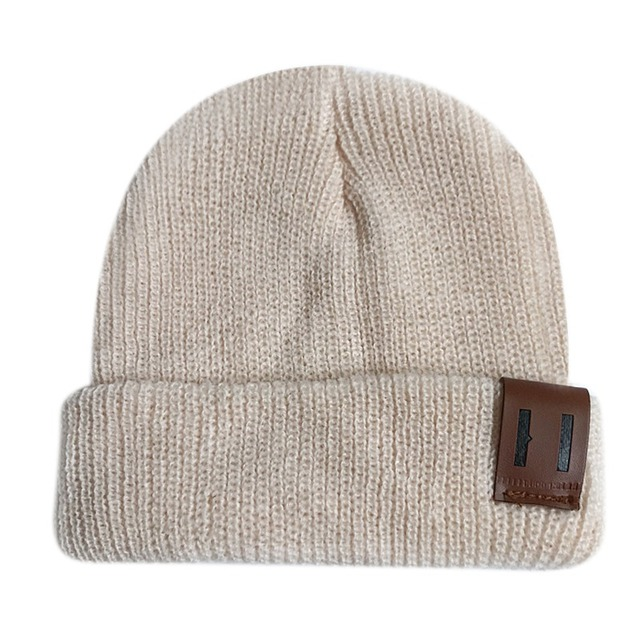Baby Hats Kdis Boy Girl Trendy Warm Chunky Soft Stretch knitted Hats  Toddler Winter Hip-hop Outdoor Caps 5a85d2392455