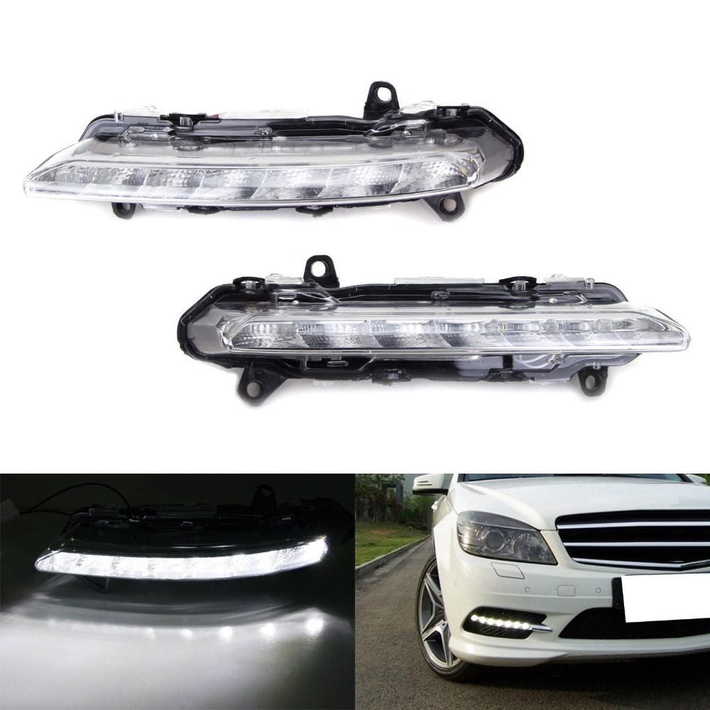 For Mercedes Benz S550 CLS550 W211 W216 W204 2009 2010 2011 2012 2013 Car-Stying LED DRL Daytime Running Light