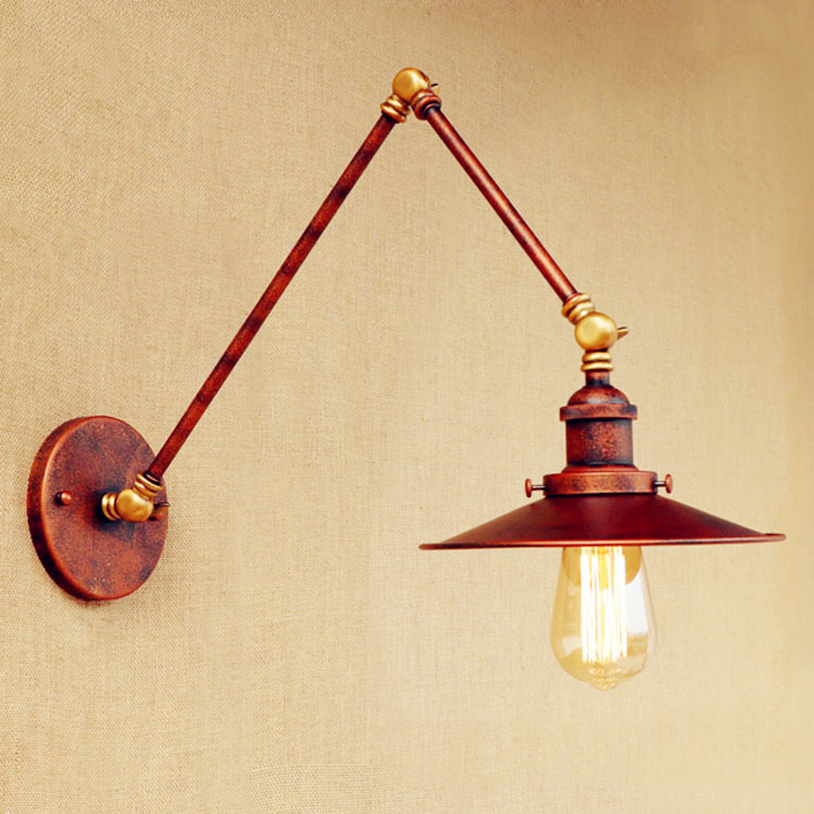 ??Antique Retro Loft Vintage ? Wall Wall Lamp Lights Aplik Swing ? Long Long Arm Wall Light ...