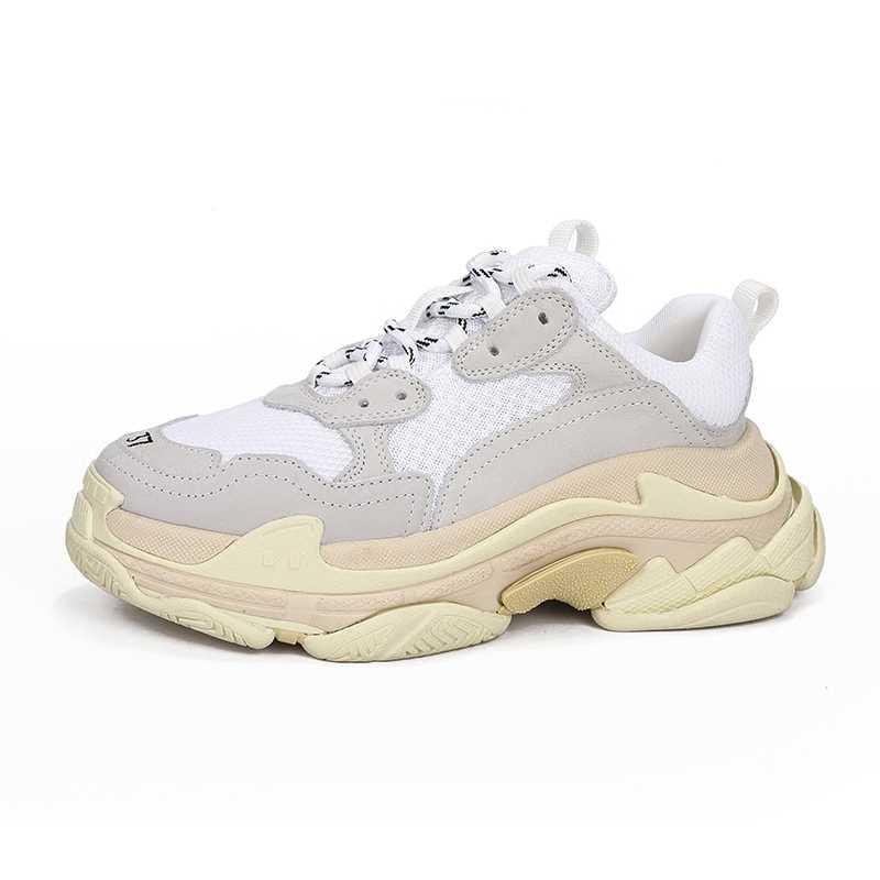 Prova Perfetto zapatillas de plataforma mujeres y hombres cordones de zapatos mayor zapatillas de moda celebridad calle papá zapatos gruesos zapatillas