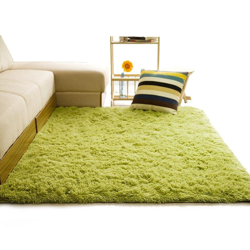 Tapis Shaggy doux pour salon maison européenne chaud tapis de sol en peluche tapis moelleux chambre d'enfants fausse fourrure tapis de salon