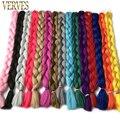 VERVES largo 82 pulgadas 165 g/pcs pelo trenzado sintético Kanekalon fibra extensiones de cabello envío gratis crochet trenza de pelo de color puro