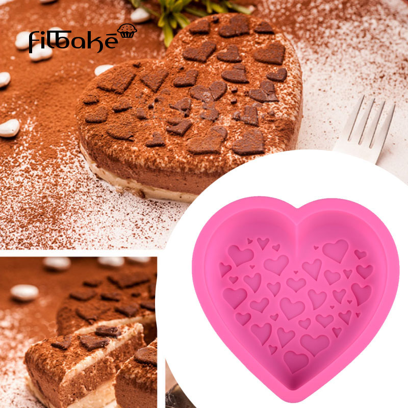 FILBAKE Cakevorm Grote Hartvormige Siliconen Cakevorm Bakken Tools - Keuken, eetkamer en bar