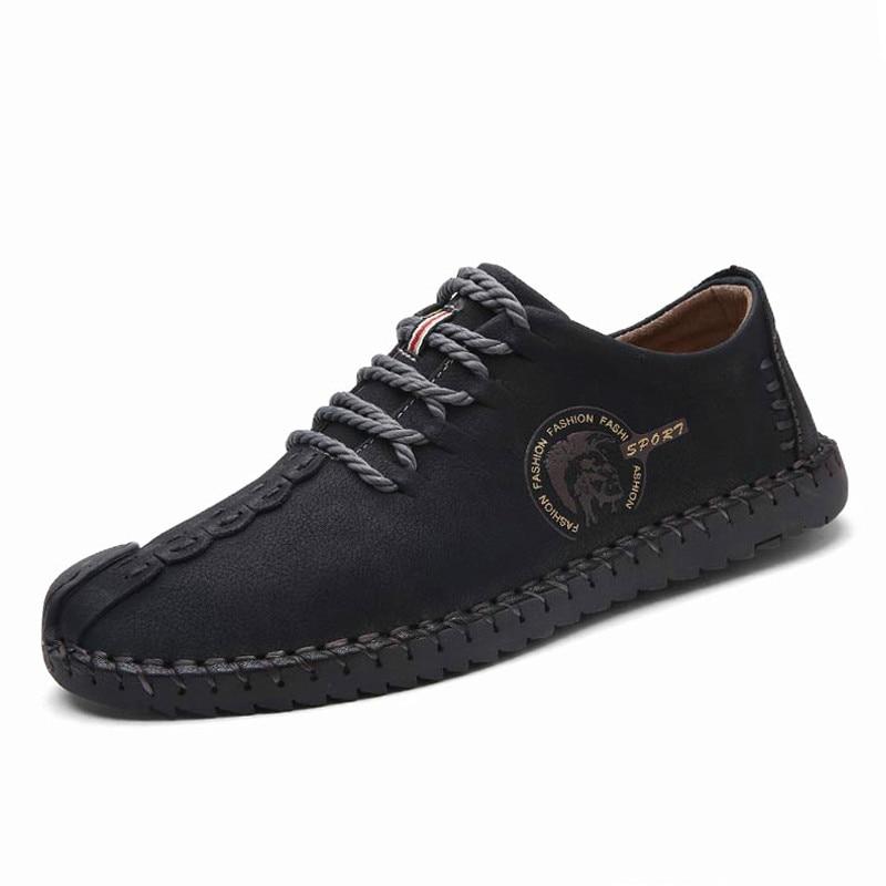Spéciale Plus 050 Homme khaki2 black2 Xz Sneakers Mocassins yellow1 Chaussure Black1 Hommes Faits Air 48 Chaussures Casual 2018 À Offre Plein Main Automne Vintage khaki1 Cuir En La Taille yellow2 wqgfUZH