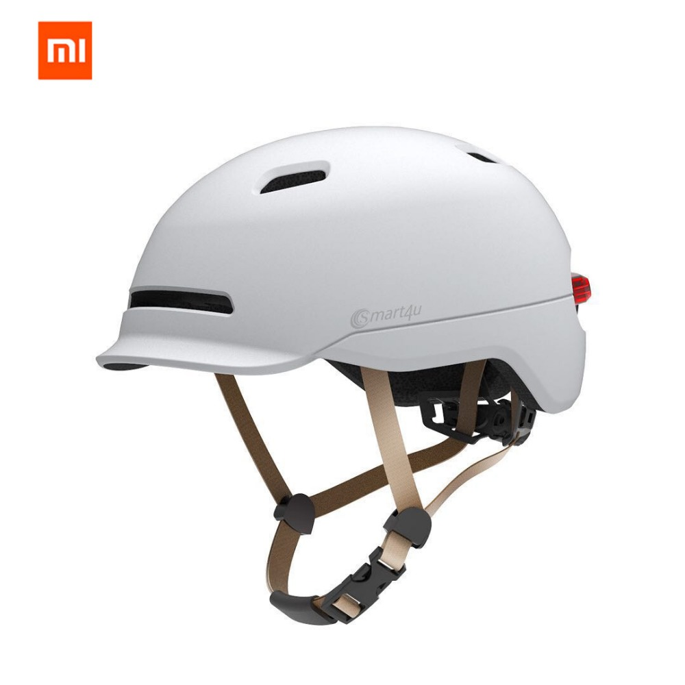 Original Xiaomi Mijia Smart4u Safety Helmet EPS Adjustable Breathable Ventilation Bicycle Bike Hat Head with flash led light