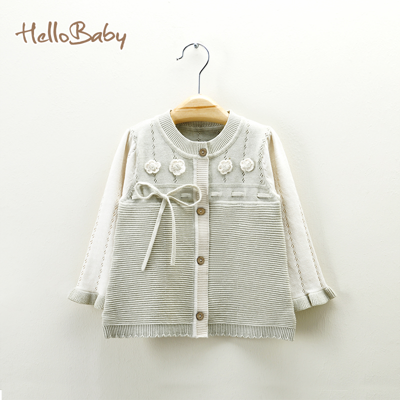 ФОТО Baby clothes for girls bow long sleeve Autumn British style baby sweater warm winter wind out clothes