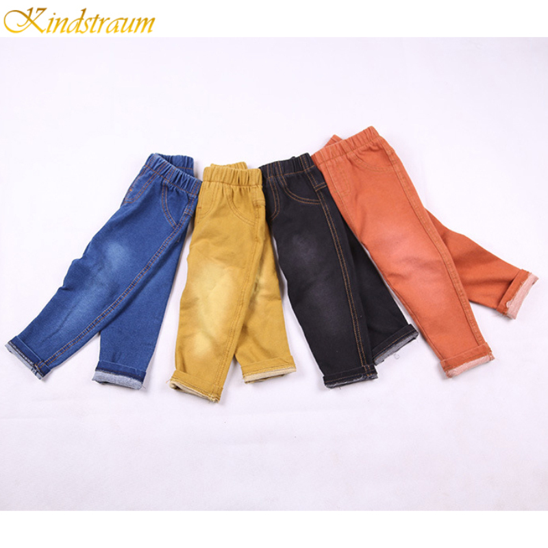 Kindstraum Pants Jeans Spring Girls Baby-Boys Kids Denim Cottontrousers Fashion