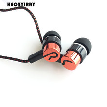 Noise Cancelling Earphone Stereo Earbuds Reflective Fiber Cloth Line Headset Music Headphones for Iphone Mobile Phone MP3/MP4