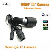 2MP 1080 P HD Крытый дверь глаз глазок IP охранных камера с датчиком движения 150 градусов наблюдения Vedio камера Поддержка Onvif