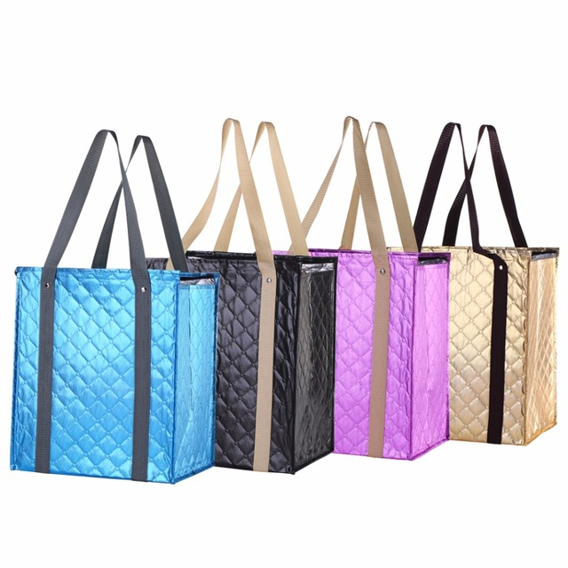 1000pcs Lot Whole Custom Insulated Grocery Tote Ping Bags