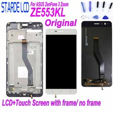 Original LCD for Asus ZenFone 3 Zoom ZE553KL ZE553 Z01HDA LCD Display Touch Screen Digitizer Assembly with Frame and Free Tools цена и фото