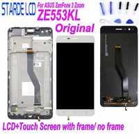 Oryginalny LCD dla Asus ZenFone 3 Zoom ZE553KL ZE553 Z01HDA wyświetlacz LCD montaż digitizera ekranu dotykowego z ramą i skorzystać z bezpłatnych narzędzi w