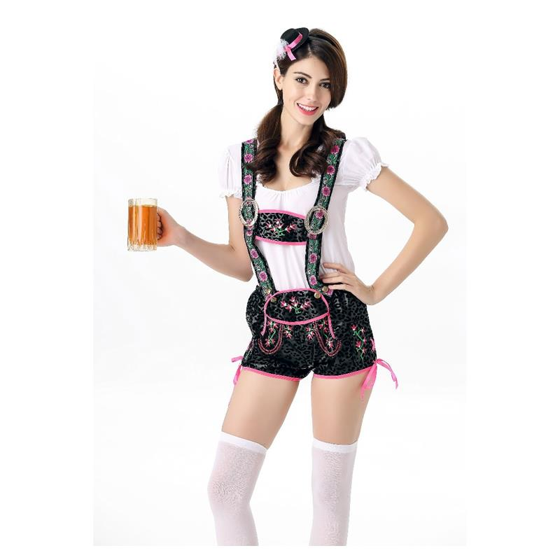 2016 New Design Fashion Beer Girl Costume Carnival Jumpsuits Womens Halloween Costume Women Girl Cosplay Romper Playsuit A415845