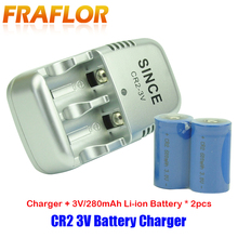 2 sztuki 3.0V CR2 bateria 3V Li ion akumulator baterie do aparatu + 1 sztuka CR2 ładowarka do kamera teleskopowa