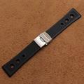 Marca de relojes horas relojes impermeables accesorios con foliding broche 22mm 24mm Correa de Reloj Nuevo de Alta Calidad Correa De Caucho Negro