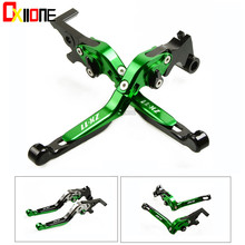 Up with logo Set For KAWASAKI ZX1100 / ZX11 1990-2001 2000 Motorcycle Folding Extendable CNC Moto Adjustable Clutch Brake Levers