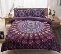 Boho Bedding sets Mandala Bohemian duvet cover set doona qulit covers Super King Queen size Full double bed in a bag totem 3PCS