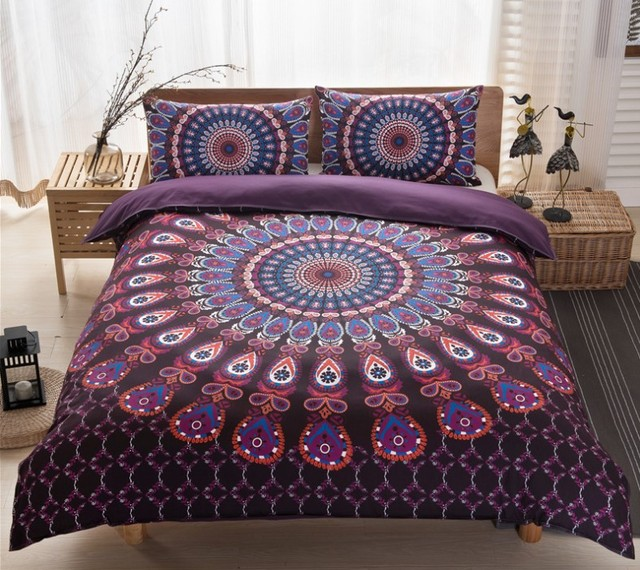 boho bedding sets mandala bohemian duvet cover set doona qulit covers super king queen size full. Black Bedroom Furniture Sets. Home Design Ideas