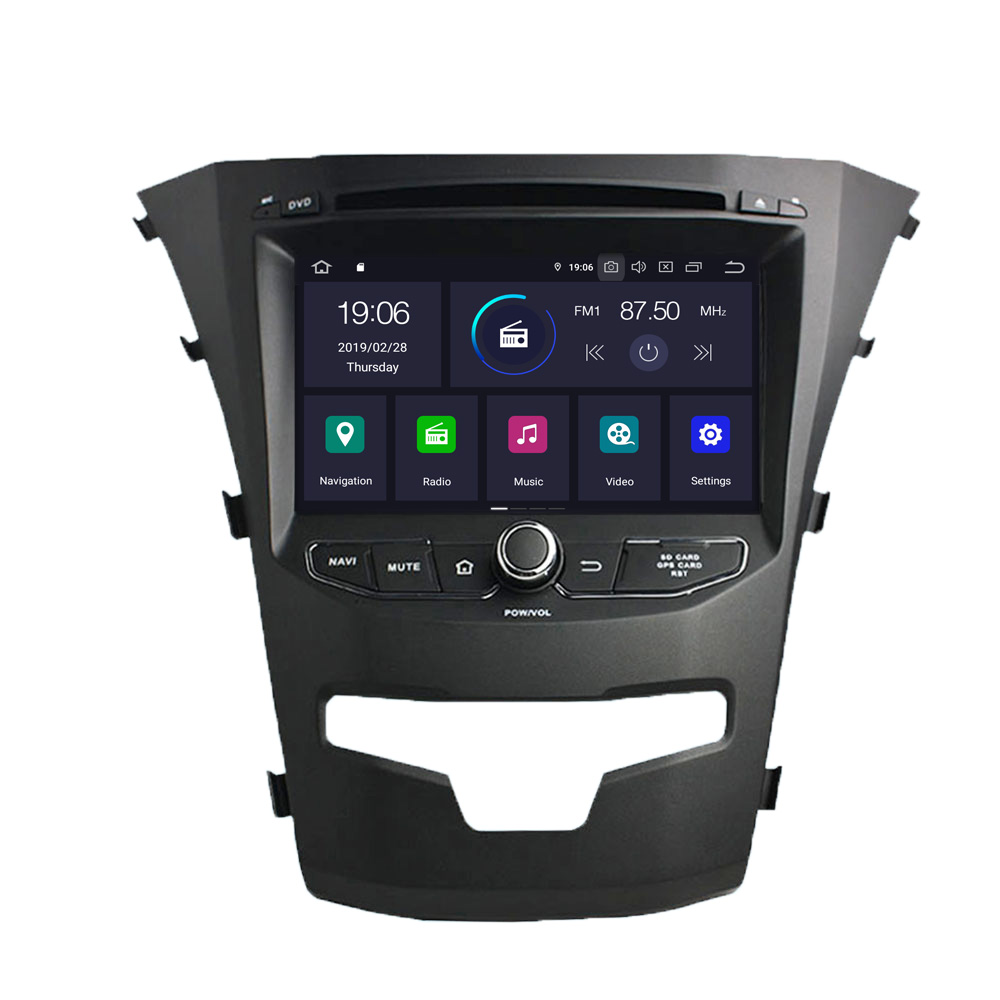 COIKA Multimedia-Player Navi-Receiver OBD Android-9.0-System SWC Ssangyong Korando Google