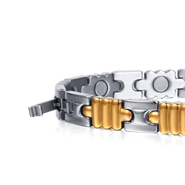 Купить женский браслет из нержавеющей стали welmag золотой с магнитным
