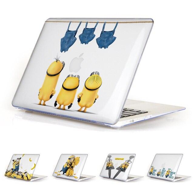 Уникальный Прекрасный Ясно Мультфильм Миньоны Чехол для Apple MacBook Air 11 13 Pro Retina 13 15 Новый 12 дюймов Жесткий Защитный Shell