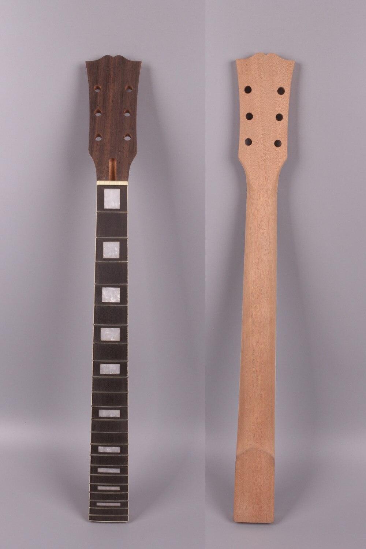 Fit bricolage style LP guitare électrique cou 22 frette 24.75 pouces 628mm acajou + palissandre Fretrboard inachevé