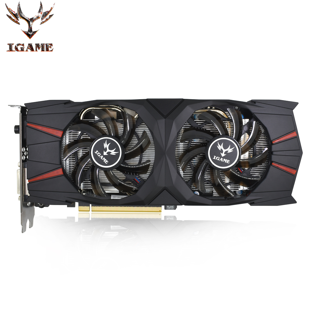 Colorful NVIDIA GeForce iGame GTX 1060 Video Graphics Card GPU 3GB GDDR5 1506MHz 3G/192Bit PCI-E 3.0 3*DP+HDMI+DVI 2 Fans цена