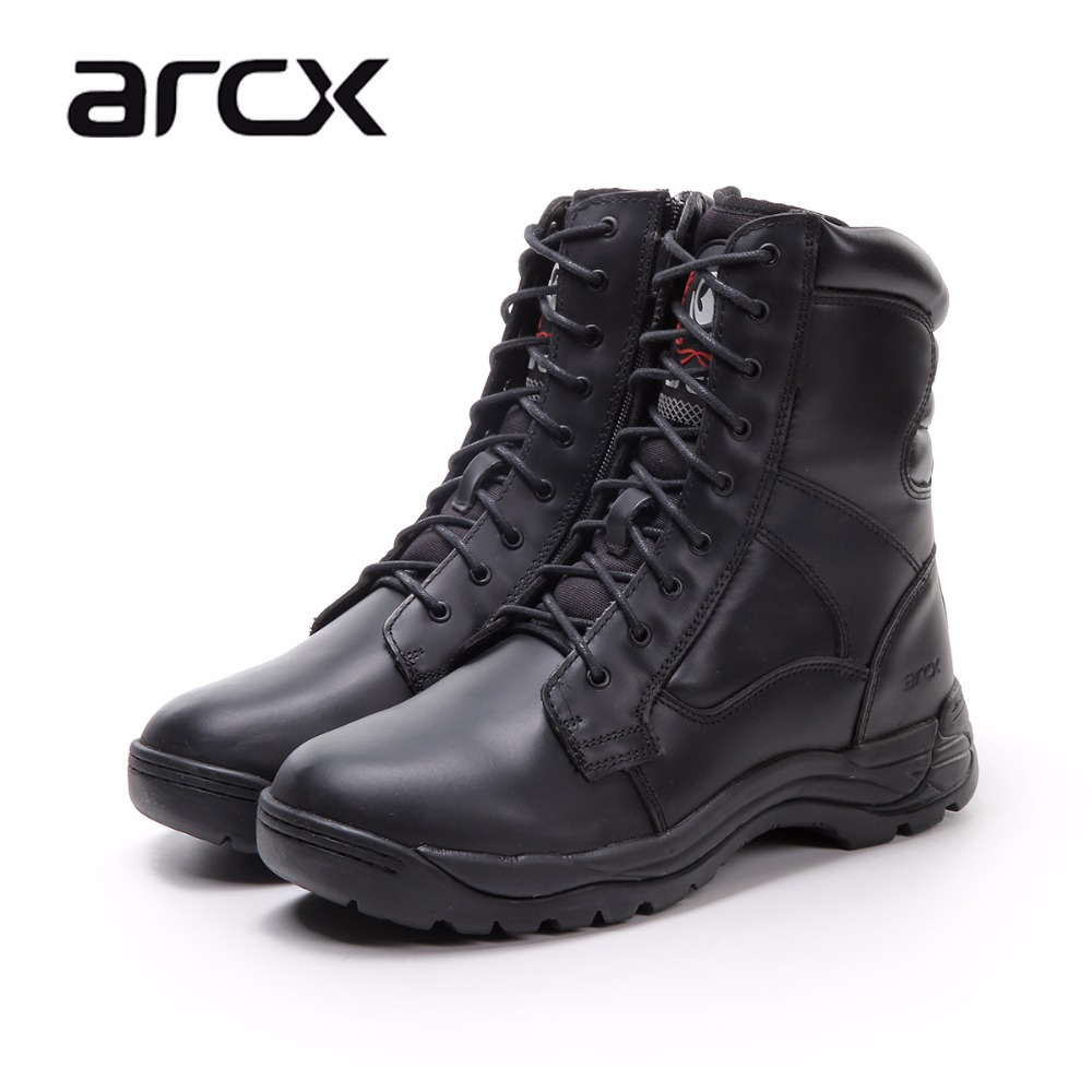 ARCX Real Cow Leather Motorcycle Boots Breathable Motorbike Motocross Boots Protector Gear Leisure Bike Motorcycle Shoes цены онлайн
