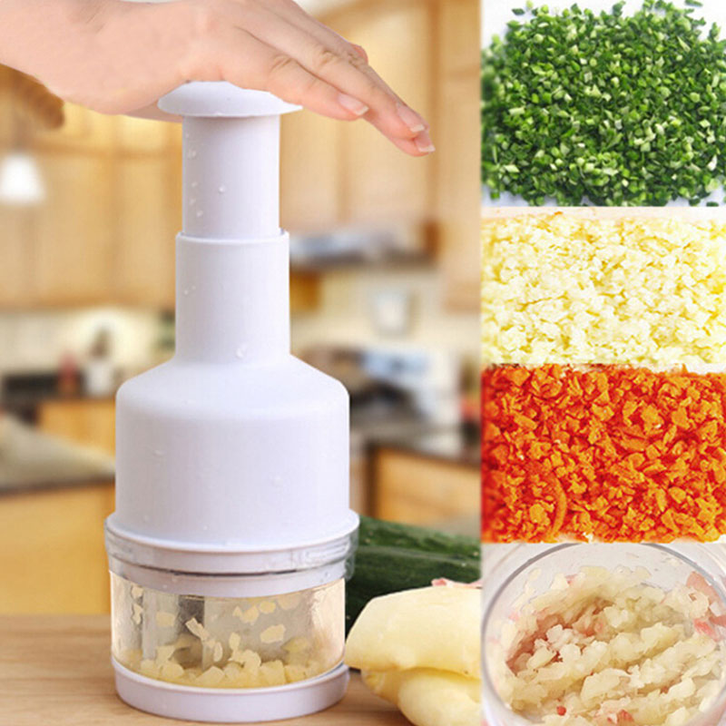 Stainless Steel Hand Pressed Vegetable Grinder Multi function Pressing Shredder Kitchen Household Chopping Machine Cutting Onion in Mills from Home Garden