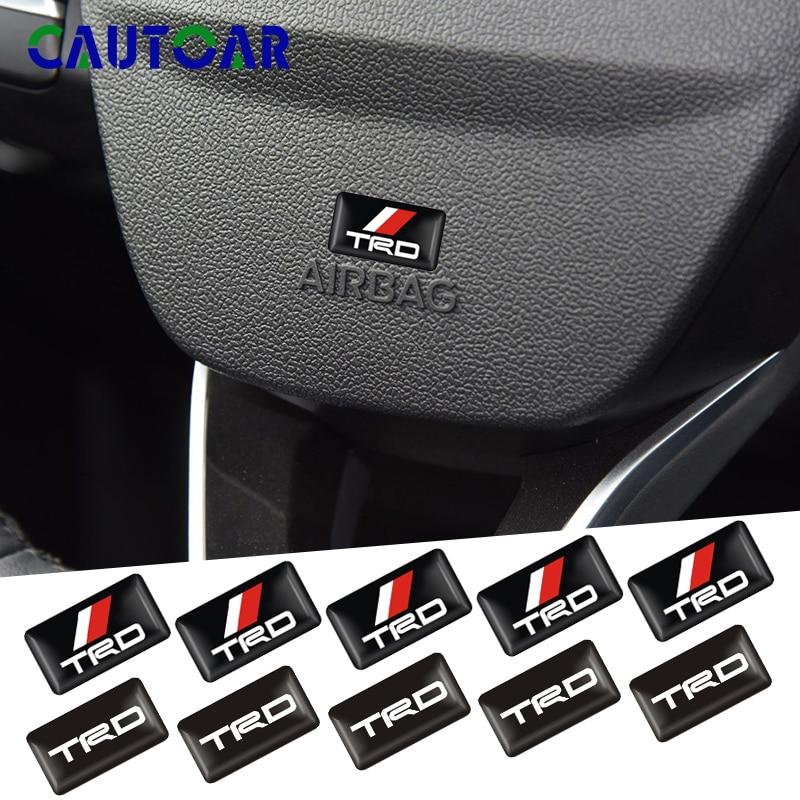 Car Styling 50pcs 3D Racing TRD emblem Car Decorative stickers For Toyota TRD Motor sports CROWN COROLLA REIZ Accessories